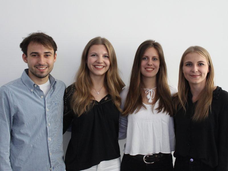 von links Louis, Antonia, Anna-Lisa und Alina
